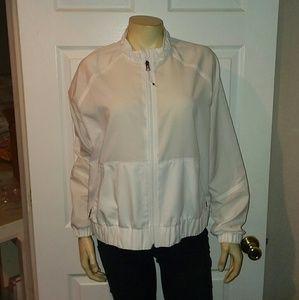 Calia White windbreaker jacket size large